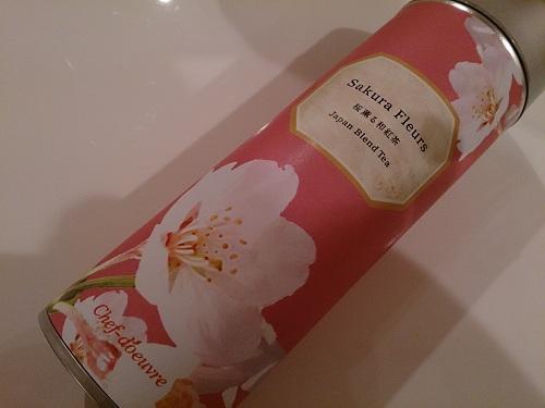桜薫る和紅茶 (SAKURA FLEURSサクラ・フルール) ・パッケージ缶