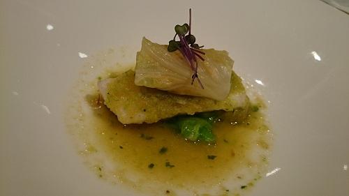 和歌山県産鮮魚のスナッケと釜揚げしらす 春キャベツソース
